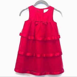 Dressed Up by Gymboree Flowing Red Dress Approx 4T